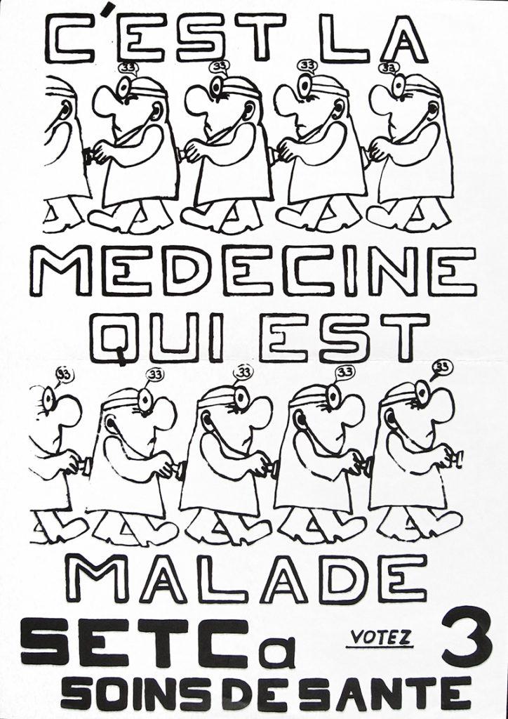 C'est la médecine qui est malade : SETCA Soins de santé, votez 3